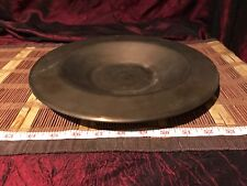 """Vintage Solid Brass Heavy Shallow Bowl Dish 11 1/2""""x1"""""""