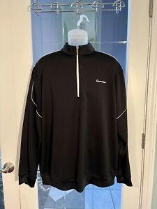 TaylorMade Ashworth Mens Long Sleeve 1/4 Zip Shirt Pullover Golf Black Size XL