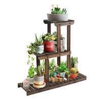 Wooden Plant Stands 3 Tier Multifunctional Plant Flower Stand Rack Storage