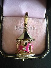 RARE! BRAND NEW JUICY COUTURE PINK CAROUSEL BRACELET CHARM IN TAGGED BOX