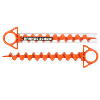 Orange Screw: The Ultimate Ground Anchor | LARGE 2 Pack | Made in the USA