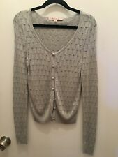 REVIEW Silver Cardigan Size 8 Not Worn
