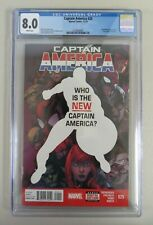 Captain America #25 (2014) CGC 8.0 1st Falcon as Cap Marvel Comics Key Disney +