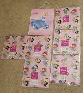 Disney Princesses Hallmark Gift Wrap & Gift Bag Bundle