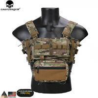 Emerson Tactical Chest Rig MK3 Micro Fight Adjust Classic Carrier w/ 5.56 Pouch