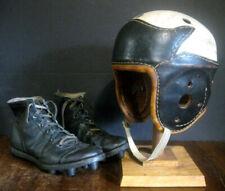 SWEET Antique Late 1930's NOKONA Wing Back Leather Football Helmet & Cleats LQQK