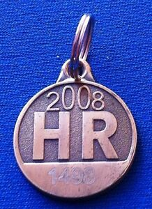 Old vintage dog tag 2008 - Veterinary Station of the city of Zagreb -Serial 1498
