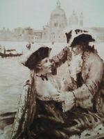 Rare curiosa Paul-Emile Bécat gravure parfait état Casanova Carnaval Venise