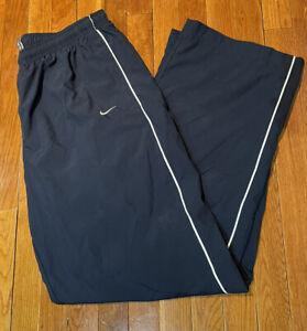 Nike Pants Mens Adult XL Navy Blue Windbreaker Swoosh Athletic Sports VINTAGE