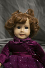 Doll Wig Short Curly Pig Tails Auburn Brown Size 10-13 in 26-30 cm NEW