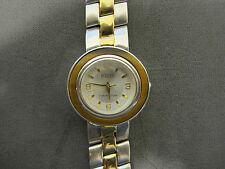 #548 ladys gold and sterling silver tiger eye ECCLISSI watch bracelet
