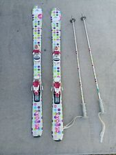 Roxy T 120 cm Youth Jr. Junior Skis w/ Roxy Bindings