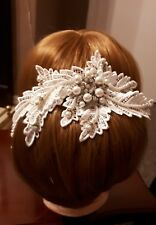 lace hair comb headpiece Lillie by designsbynettieGB new photos
