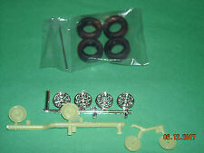 Chrome Mag wheels & tires, brakes, 1968 Ford Shelby Mustang model car parts