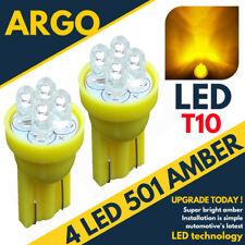 4 LED XENON AMBER QUAD 501 T10 W5W SIDELIGHT BULBS HONDA CIVIC TYPE R VTEC