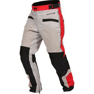 Buffalo Coolflow ST Waterproof Mesh Motorcycle Motorbike Trousers Stone Red