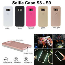 Selfie Case Cover LED Light Up Bright Flashlight For Samsung Galaxy S8 S9 Plus