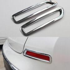 2x Chrome Car Rear Bumper Fog Light Cover Molding Trim For Nissan Murano 2015-20