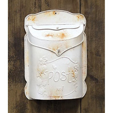 Vintage Rustic White Post Box