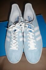 Adidas Gazelle OG  Lace up Retro Classic Fashion Casual Baby Blue Blue Trainers