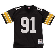 66f6d1ed2c4 Kevin Greene Pittsburgh Steelers Mitchell & Ness Black Throwback Jersey XL