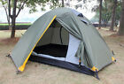 Green 2 Persons Double Lining Outdoor Waterproof Beach Camping Hiking Tent #