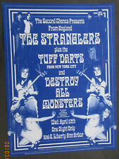Second Chance The Stranglers, Tuff Darts, Destroy All Monsters poster
