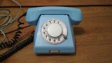 Vintage Soviet phone. Blue color.