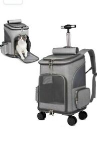 KADUNDI Rolled Pet Carrier Backpack Pet Trolley Travel Carrier Car Seat for Dogs