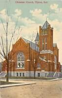 A74/ Tipton Indiana In Postcard c1910 Christian Church Building