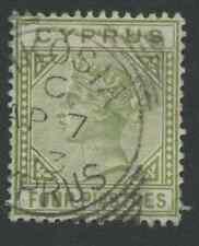 Cyprus SG35a 1892 4pi Used