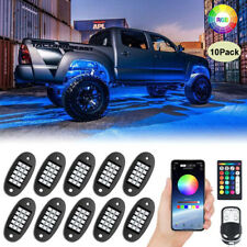Mustwin 10 Pods Rgb Led Rock Lights Kit Underbody Neon Music Light Bluetooth App