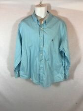 Men's RALPH LAUREN Light Blue L/S Button Down Dress Shirt Sz 18 Classic Fit