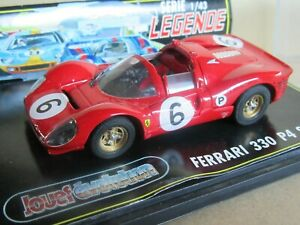 522O Jouef Evolution Ferrari 330 P4 Spyder #6 Brands Hatch 1967 Stewart 1:43