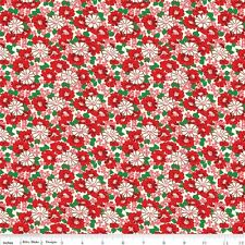 Hope Chest Little Floral Red By The Yard Penny Rose SALE