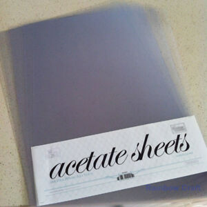 Clear A4 Acetate Sheet (210 x 297mm) for card window boxes 5, 10, 20, 50 sheets