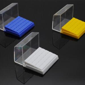 Dentistry Clinic Plastic 24 Holes Bur Holder Block Case/24 Pcs FG 1.6mm
