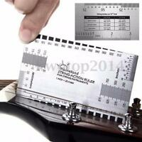 Guitar String Action Gauge Ruler Guide Setup and Bass Luthier Measuring Tools
