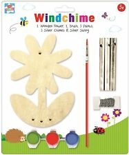 Childrens Make Your Own Wind Chimes Garden Decoration Paint Art Craft Activity