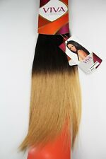 Sleek Ombre Human Hair Weave Extensions, 18 Inches, Brown & Blonde