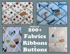 Extra Large Professionally Handmade fabric Pin/memo/notice/photo cork board NEW