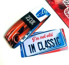 ZOX **I'M NOT OLD I'M A CLASSIC** Silver Strap med Wristband w/Card New Mys Pkg