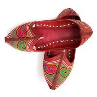 Women Mojari Leather Jutti Traditional Punjabi Handmade Khussa Shoes US Style