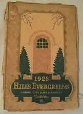 "RARE 1928 BEAUTIFUL Color NURSERY Catalog~""HILL'S EVERGREENS""~Dundee IL~"