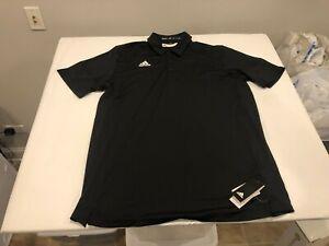 NWT $65.00 Adidas Mens Tech SS Polo Black B&T Size 2XLT