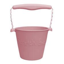 Scrunch Cubo de Playa Para Niños (Polvoriento Rosa) Castillo de arena Accesorios Juguetes de agua