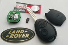 Genuine Land Rover Discovery 2 TD4 TD5 Key Fob 2 Button+Uncut Blade, New Case!!