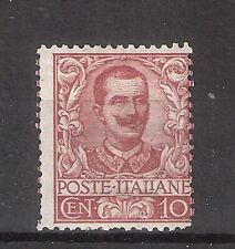 REGNO 1901 BEL FLOREALE 10 Cent Carminio Valore Nuovo MH Sassone 140,00 Euro