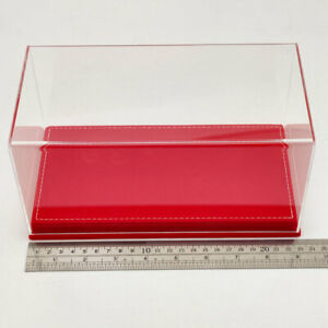 Acrylic Boxes Models Stand Display Case Transparent Dustproof Red Flannel Bottom