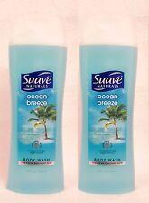 2 Suave OCEAN BREEZE Body Wash 12 .oz